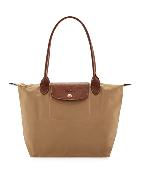 Le Pliage Medium Shoulder Tote Bag, Beige