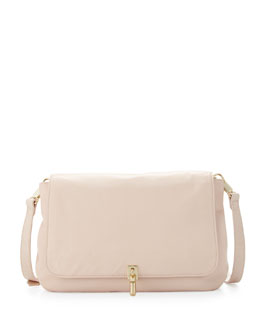Elizabeth and James Cynie Lambskin Small Crossbody Bag, Champagne