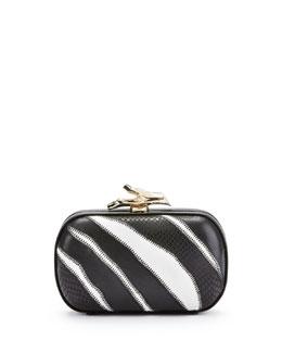 Diane von Furstenberg Lytton Zebra Minaudiere, Black/White