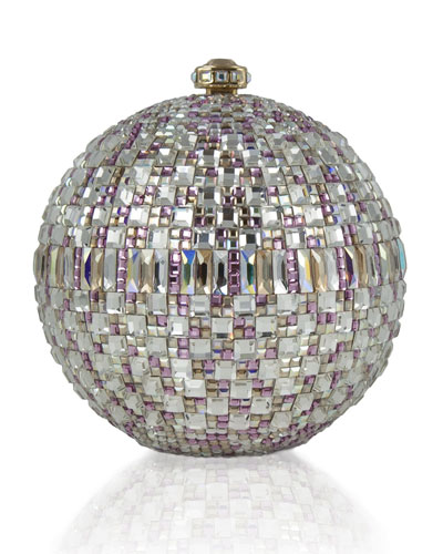 Judith Leiber Couture New Sphere Crystal Minaudiere, Multicolor