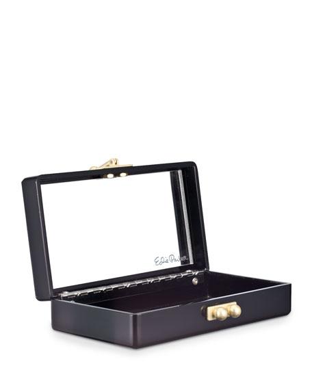 Jean Confetti Striped Acrylic Clutch Bag, Black/Gold