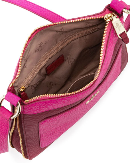 Village Sheila Colorblock Crossbody Bag, Purple