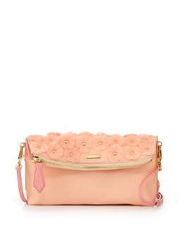 Burberry Floral PVC Shoulder Bag, Pale Cameo Pink