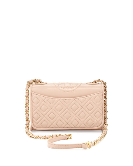 Fleming Quilted Mini Flap Shoulder Bag, Pink