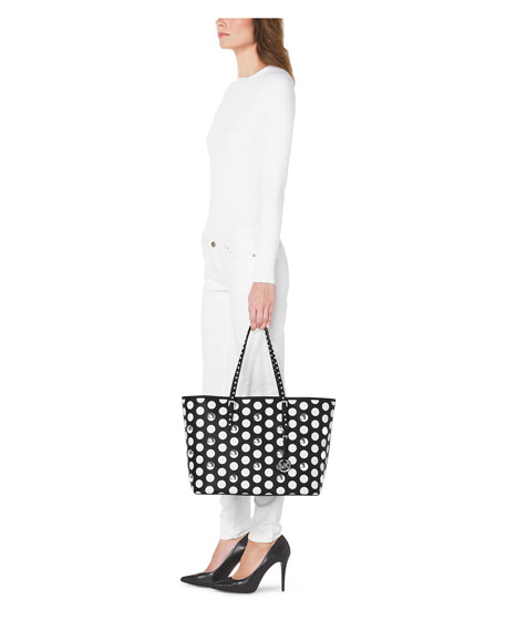 Jet Set Travel Dot-Stud Tote