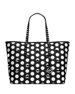 MICHAEL Michael Kors  Jet Set Travel Dot-Stud Tote