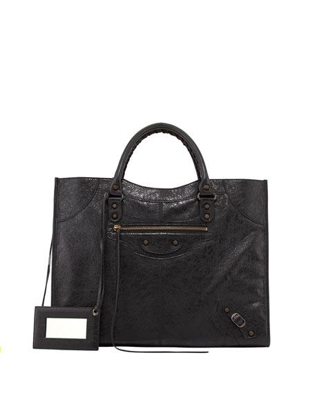 Classic Monday Satchel Bag, Black