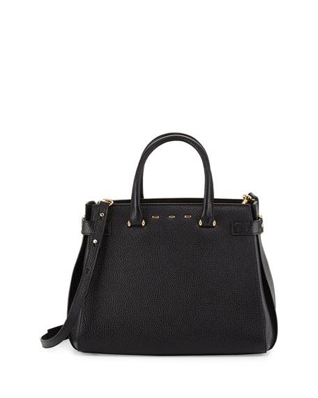 Boulevard Vitello Tote Bag, Black