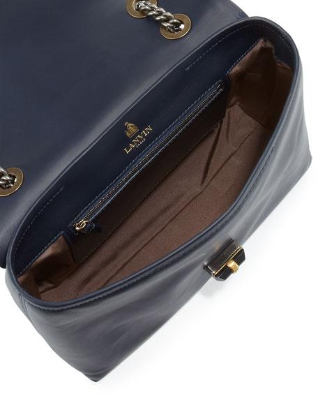 Happy Snakeskin Shoulder Bag, Blue