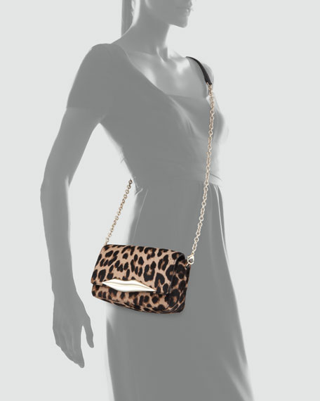 70507eec4175 Diane von Furstenberg Flirty Calf Hair Mini Crossbody Bag, Leopard