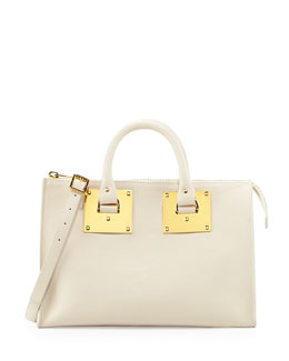 Sophie Hulme Mini Zip Top Bowling Bag, Stone
