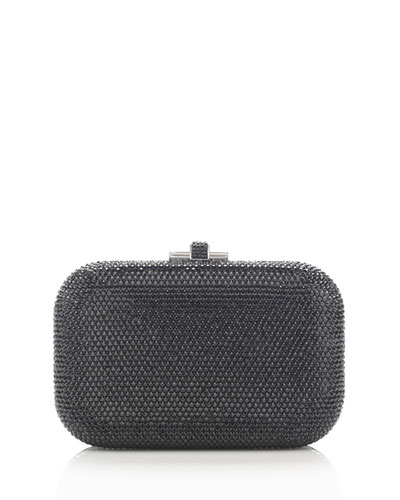 Crystal Slide-Lock Clutch Bag, Cosmo Jet