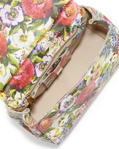 Miss Sicily Floral-Print Satchel Bag
