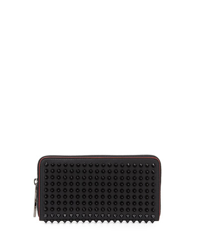 Panettone Spike Stud Continental Wallet, Black