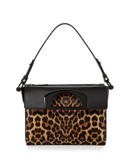 Christian Louboutin Passage Small Calf Hair Shoulder Bag, Leopard