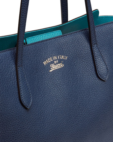 Medium Swing Tote Bag Navy Turquoise