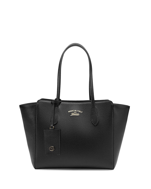 3f553ca9820e7f Gucci Swing Small Leather Tote Bag, Black | Neiman Marcus