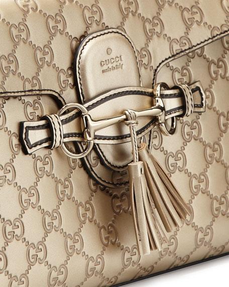 Emily Guccissima Leather Chain Shoulder Bag, Golden