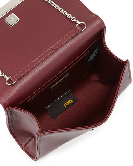 Rush Mini Leather Clutch Bag, Burgundy
