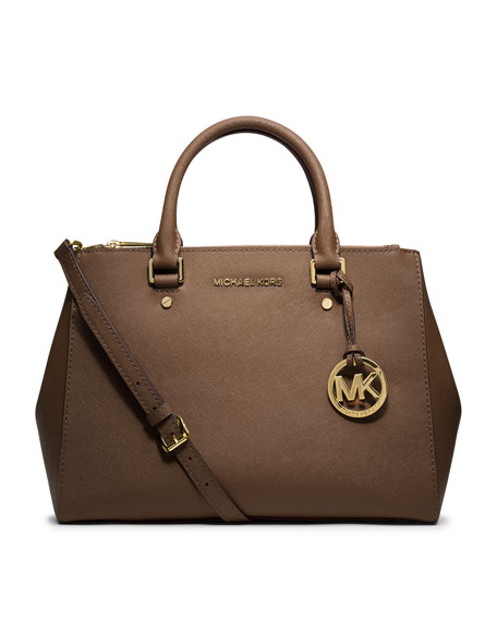 MICHAEL Michael Kors Sutton Medium Satchel Bag, Dark Dune