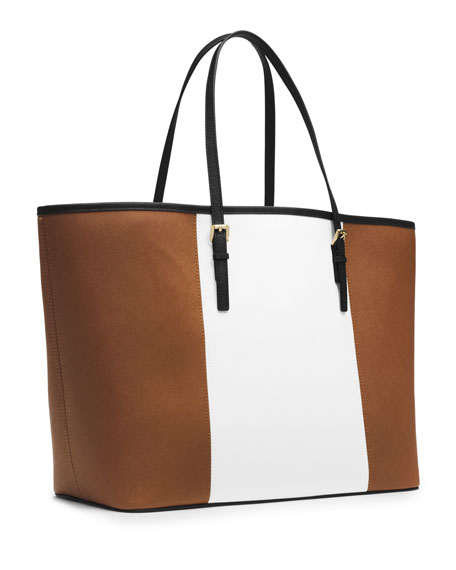 Jet Set Center-Stripe Travel Tote