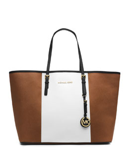 MICHAEL Michael Kors Jet Set Center-Stripe Travel Tote
