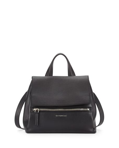 Givenchy Pandora Pure Small Leather Satchel Bag, Black