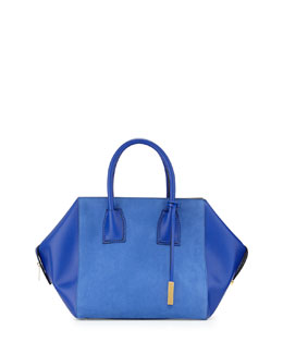 Stella McCartney Beckett Boston Shopper Tote Bag, Blue