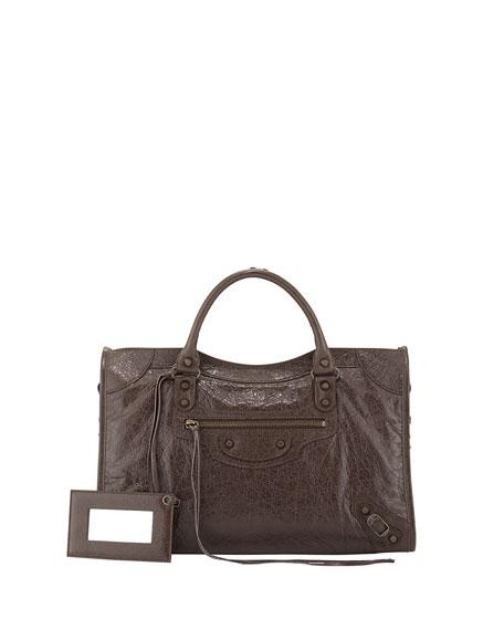 Balenciaga Classic City Bag, Dark Brown
