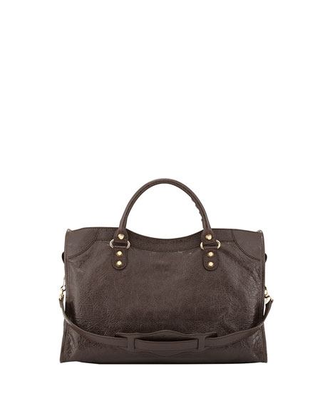 Giant 12 Golden City Bag, Dark Brown