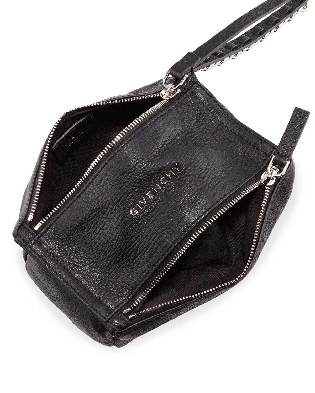 9c338e78f5 Givenchy Pandora Leather Wristlet Pouch Bag, Black | Neiman Marcus