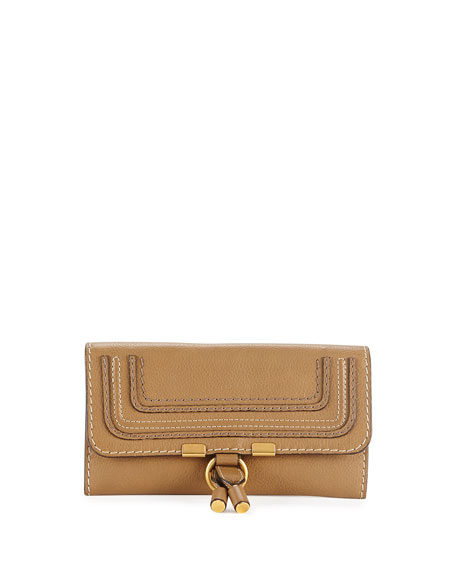 Chloe Marcie Continental Flap Wallet, Brown