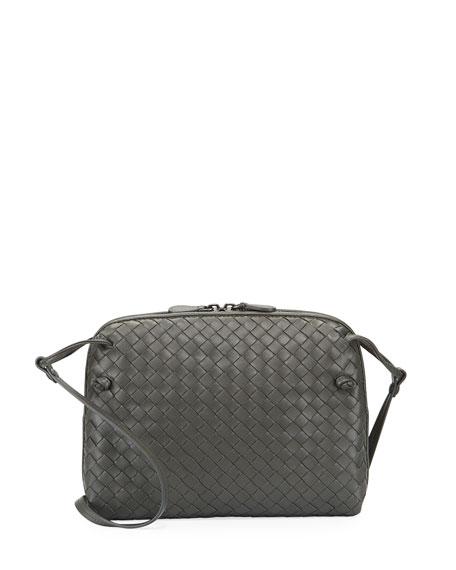 Bottega Veneta Intrecciato Messenger Bag, Gray