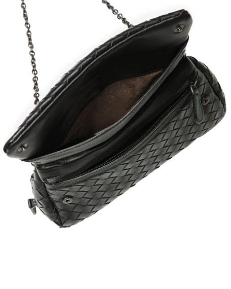Bottega Veneta Intrecciato Small Chain Crossbody Bag, Black ...
