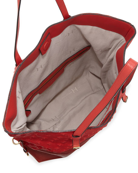 City Casual Patchwork Tote Bag, Chili Multi