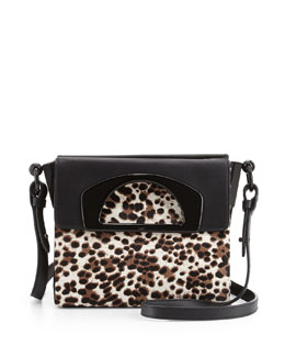 Christian Louboutin Mini Passage Calf Hair Crossbody Bag, Leopard