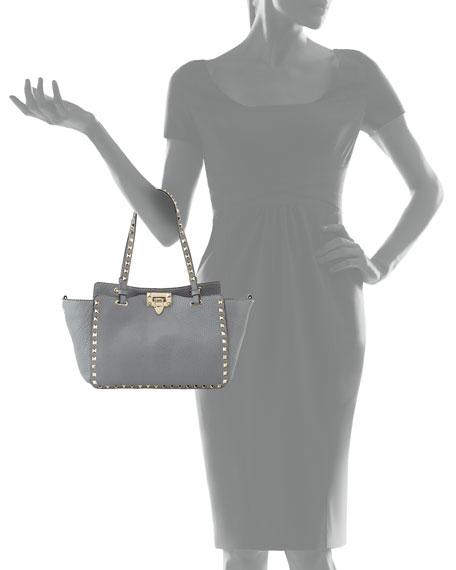 260c88b8322 Valentino Garavani Rockstud Mini Tote Bag, Gray