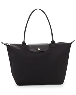 Longchamp Le Pliage Shoulder Tote Bag, Black