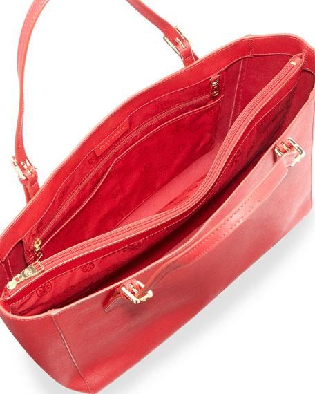 York Saffiano Leather Tote Bag, Kir Royale