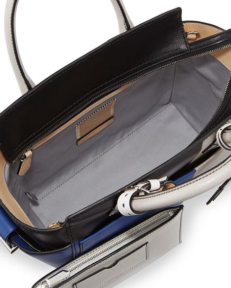 Atlantique Mini Tote Bag, Blue Multi