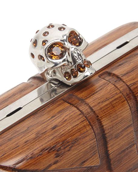 Britannia Wooden Skull Box Clutch