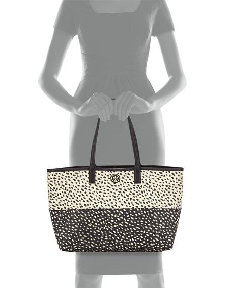 Kerrington Two-Tone Printed Shopper Tote Bag, Dotted Pony
