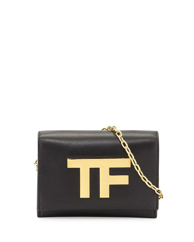 e0ce2f59579 TOM FORD TF Small Chain Crossbody Bag, Black   Neiman Marcus