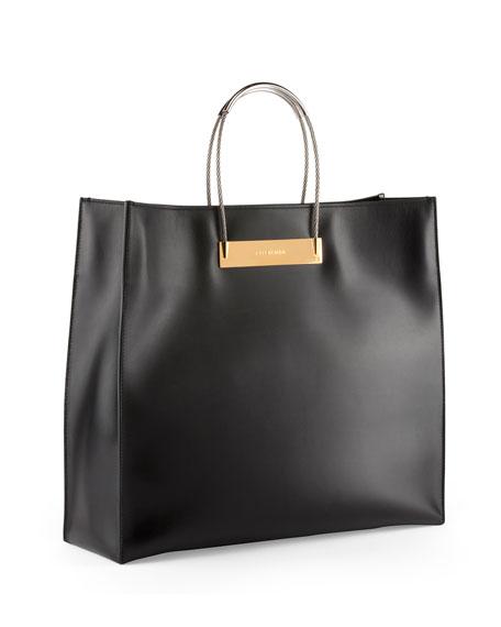 Balenciaga Cable Strap Medium Shopper Bag, Black