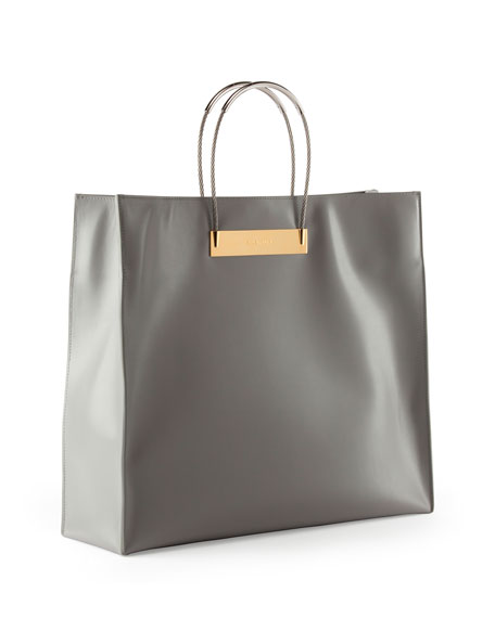Cable Strap Medium Shopper Bag, Gray