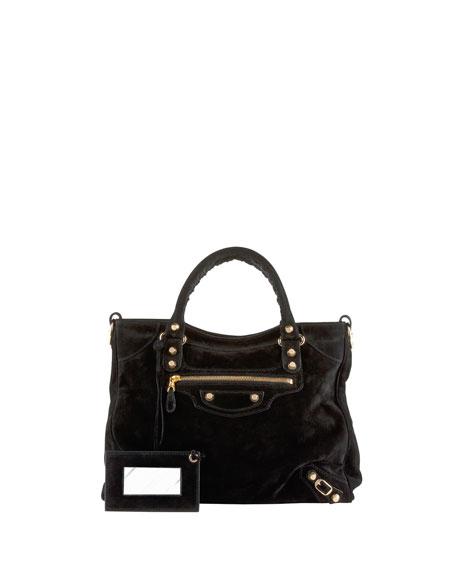 Giant 12 Golden Suede Velo Bag, Black