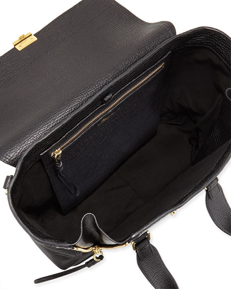 Pashli Medium Zip Satchel Bag, Black