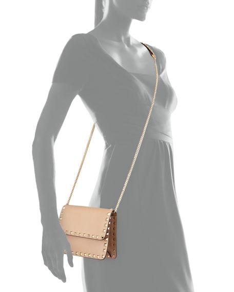 Rockstud Flap Crossbody Bag, Beige