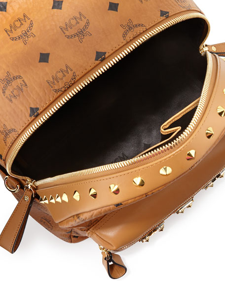 Stark M Collection Studded Backpack, Cognac