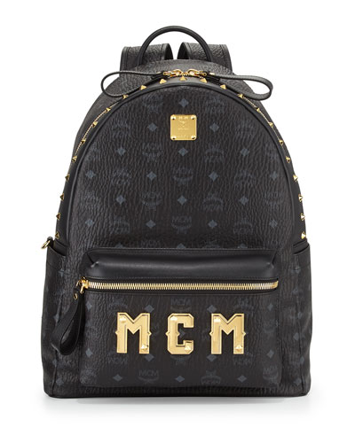 MCM Stark M Collection Studded Backpack, Black